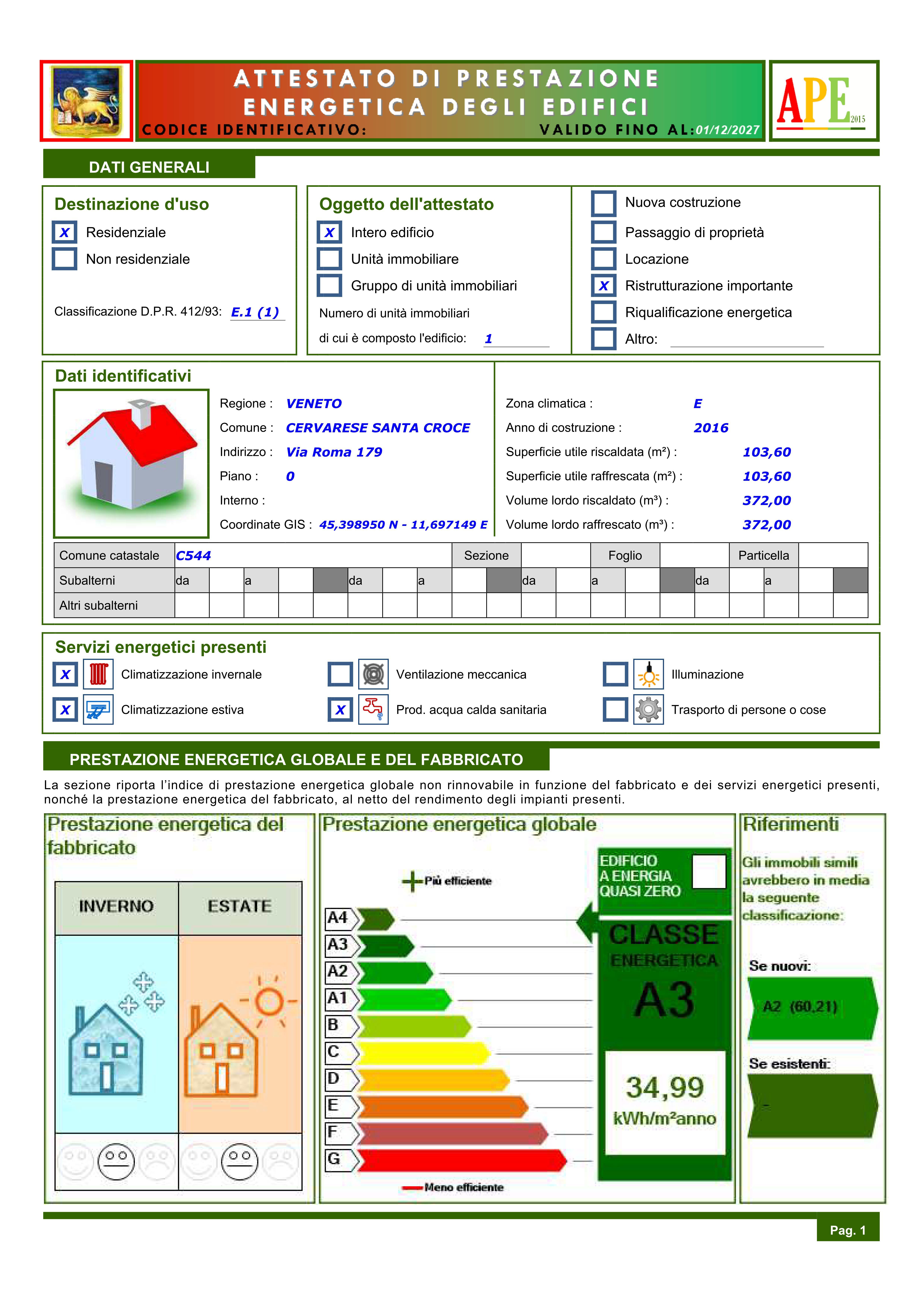ANALISI ENERGETICHE E ATTESTATI DI PRESTAZIONE ENERGETICA